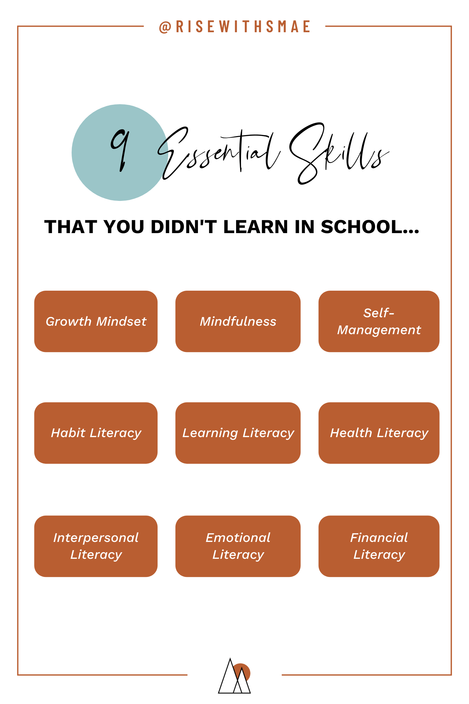 How to get back on track with your life: 9 Essential skills not taught in schools